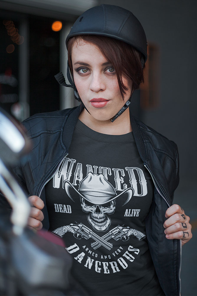 Women's T-Shirt Wanted Dead Or Alive t-shirt design